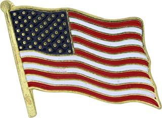 STATUE OF LIBERTY USA FLAG MAP UNITED STATES LAPEL PIN BADGE 1.25 INCHES