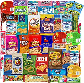 Blue Ribbon Care Package 45 Count Ultimate Sampler Mixed Bars, Cookies, Chips, Candy..