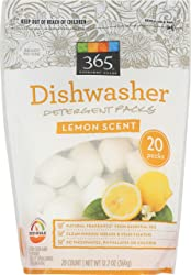 365 Everyday Value, Dishwasher Detergent Packs, Lemon Scent, 20 ct (Packaging May Vary)