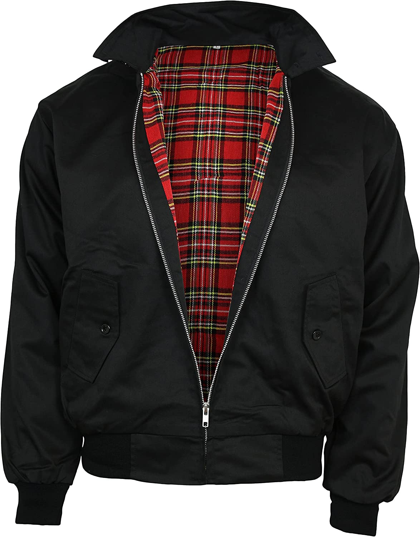 Relco Mens Classic Harrington Jacket Black M