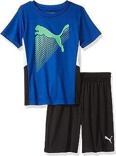 Puma - Conjunto de Playera y pantalón Corto para niño pequeño