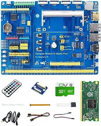 CQRobot Raspberry Pi Compute Module 3 Lite Development Kit Evaluate Compute Module 3, with CM3 IO Board, DS18B20, IR Remote Controller, Micro SD Card, Interfaces for Raspberry Pi And Arduino. - Trova i prezzi più bassi