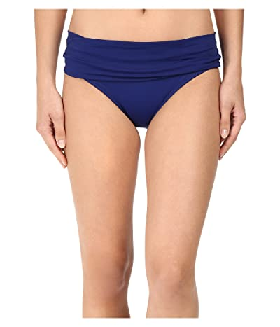 La Blanca Island Goddess Shirred Waist Hipster Bottom (Midnight) Women
