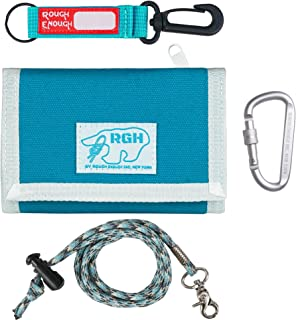 Rough Enough Lanyard Kids Wallets for Boys Light Blue Keychain Wallet for Teens