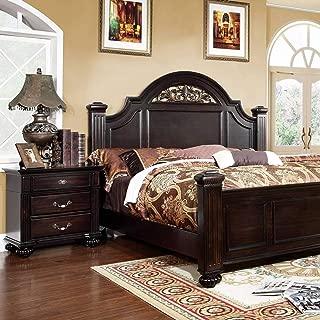 Furniture of America Grande Traditional Dark Walnut 2-Piece Bedroom Set California King