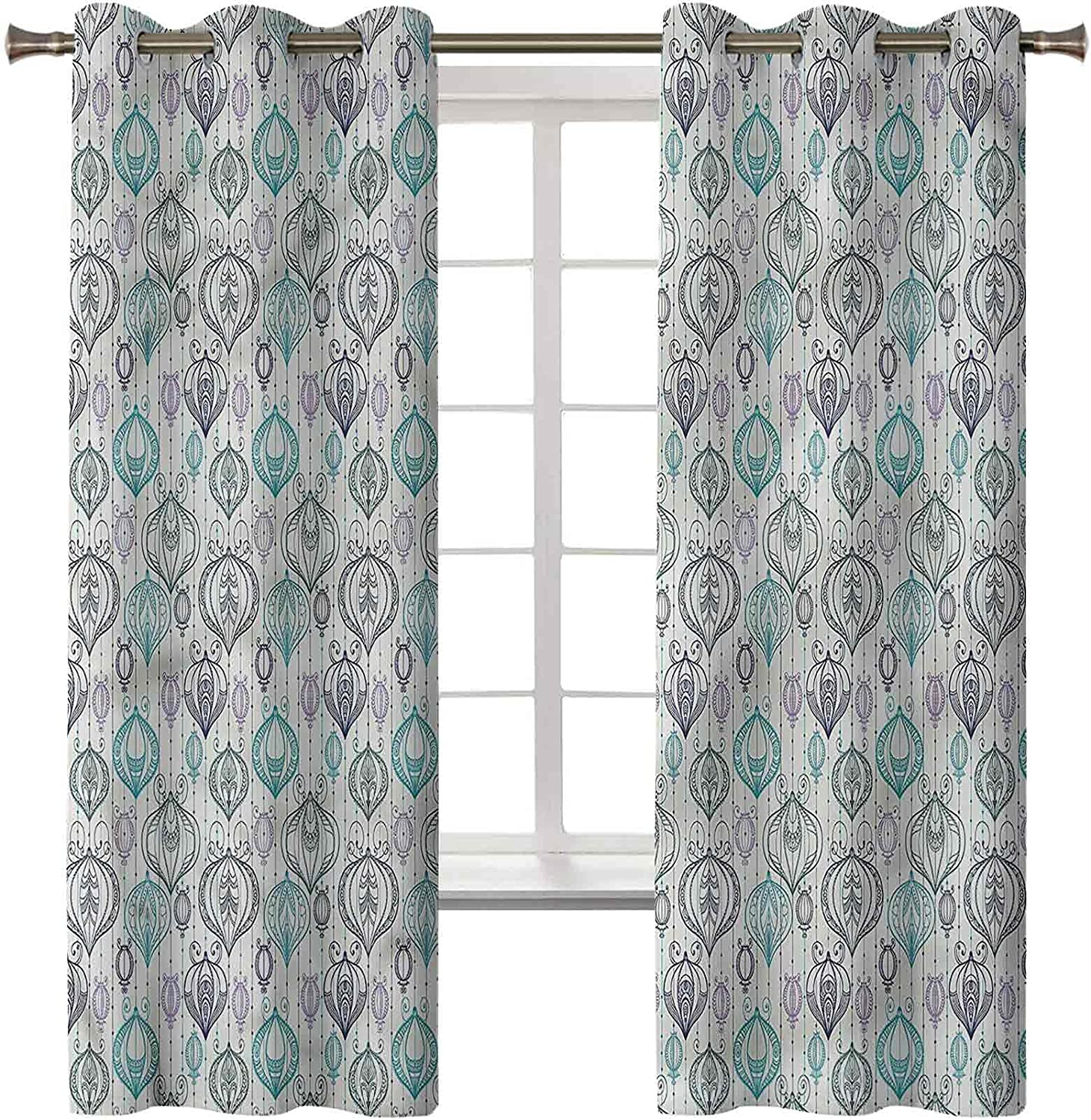 Lantern Light Blocking Limited time trial price Curtains Set of 2 x Panels 84 Superior 42 Dr Inch