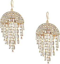 Semi-Circle Rhinestone Chandelier Earrings
