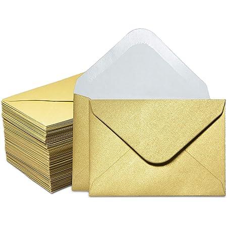 Sobres Para Tarjetas De Regalo 100 Sobres Pequeños Sobres Para Tarjetas De Visita De Papel Pequeños Sobres A Granel Para Pequeñas Tarjetas De Notas Oro 3 9 X 2 7 In Office Products
