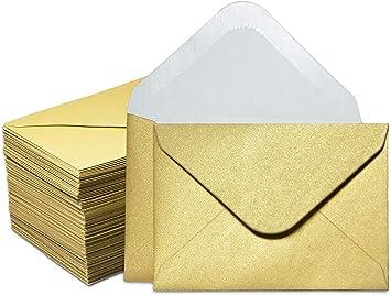 Amazon Com Sobres Para Tarjetas De Regalo 100 Sobres Pequeños Sobres Para Tarjetas De Visita De Papel Pequeños Sobres A Granel Para Pequeñas Tarjetas De Notas Oro 3 9 X 2 7 In Office Products