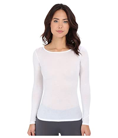 Hanro Ultralight Long Sleeve Top (White) Women