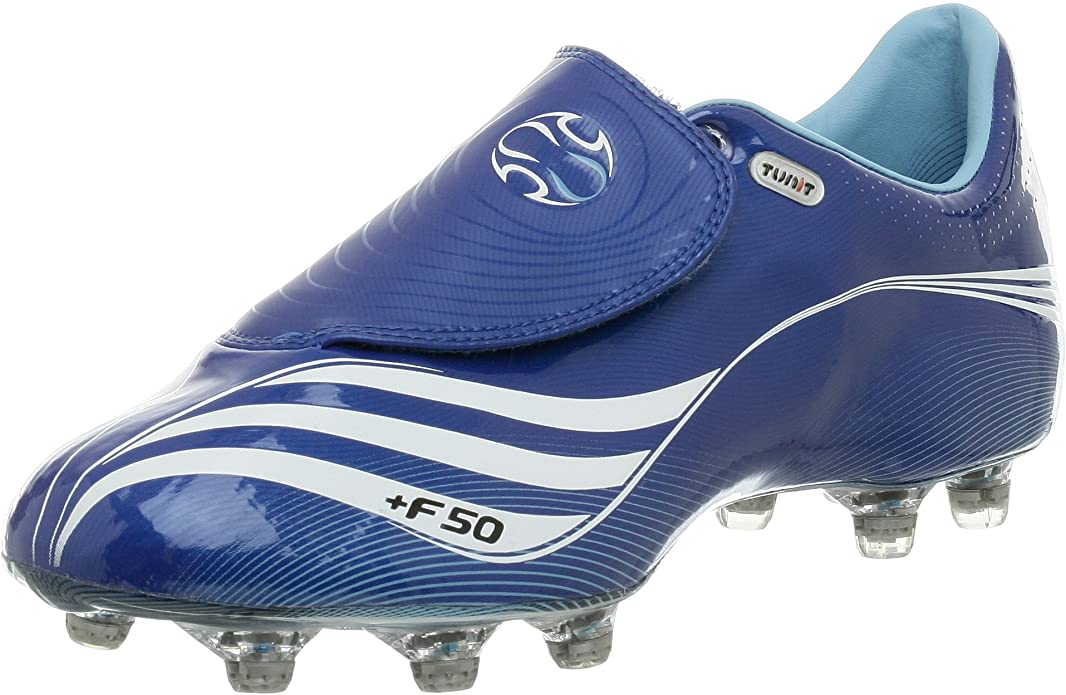 Amazon.com   adidas Men's F50.7 Tunit Soccer Cleat,Blue/White ...