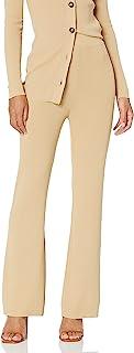 The Drop Women's Ellison Rib Flare Leg Sweater Pant