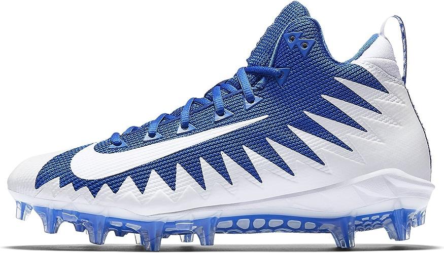 Nike - Crampons Football Américain Alpha Menace Pro Mid - Game Royal blanc blanc - 44