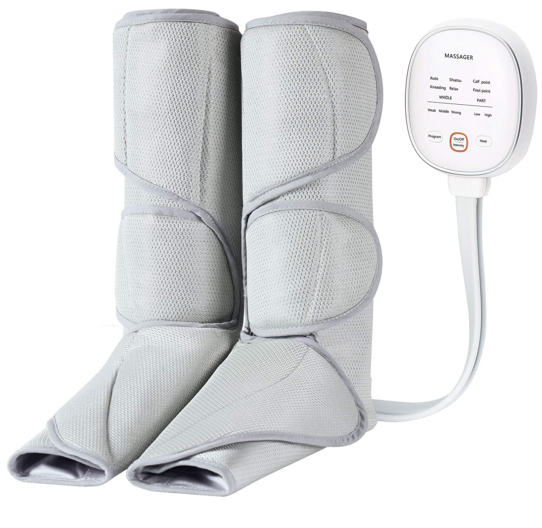 探偵基本的な誘惑Kindao マッサージ器 エアーマッサージャー 温感機能搭載 6つのマッサージコースを 強さを選べる3段階の切り替え 空気圧縮 フット循環血行促進 レッグリフレ足 まっさーじ機 あし脚 マッサージ装置