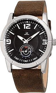 Joshua & Sons Men's Quartz Watch, Analog Display and Leather Strap Jx135Bk, Brown Band