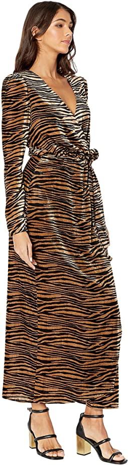 Black/Camel Tiger Velvet