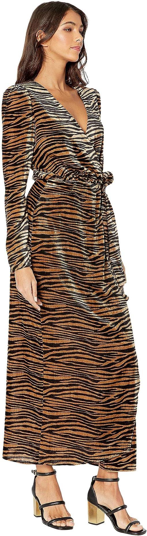 Black/Camel Tiger Velvet