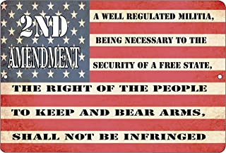 Rogue River Tactical USA American Flag Metal Tin Sign Wall Decor Man Cave Bar US 2nd Second Amendment Pro Gun