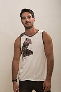 Mens printed shirt, Mans Tank top, Design tank, Mens clothing, Man's Top, Handmade shirt, Unique shirt, Evening wear, Mens fashion clothing