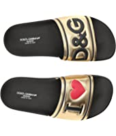Dolce & Gabbana Kids - Gold Slide (Big Kid)