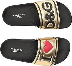Dolce & Gabbana Kids - Gold Slide (Big Kid)