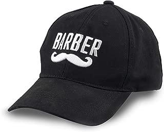 Barber Logo Flexfit Embroidered Baseball Hat One Size Fits Most