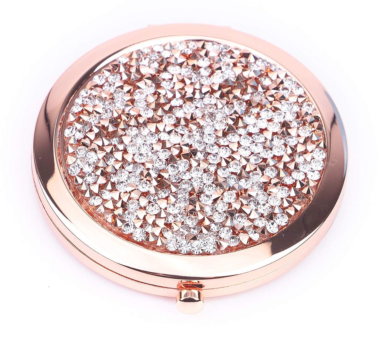 BangBangSing Magnifying Compact Cosmetic Mirror 2.75 Inch Round Pocket Makeup Mirror Handheld Travel Makeup Mirror