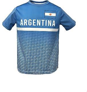 تي شيرت HKY SPORTSWEAR للشباب من الأرجنتين برقبة مستديرة، وأكمام قصيرة