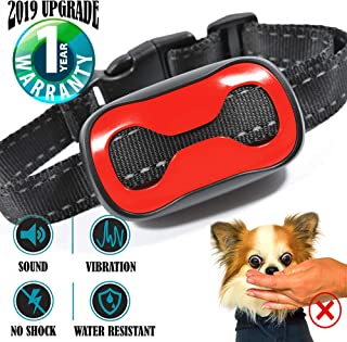 TrainerPro Dog Bark Collar - Humane Anti Barking Training Collar - Sound and Vibration Bark Control - 2019 Upgrade - Small Dog Bark Collar, Medium Dog Bark Collar, Large Dog Bark Collar - no Shock