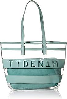 TOM TAILOR Denim Shopper Damen, Linares, 43x12x26 cm, Handtasche groß, Umhängetasche