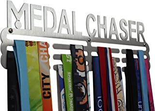 Medal Hanger Display Rack For All Sports – Stainless Steel 36+ Medal Holder – For Men, Women, Boys And Girls – Easy To Mount, Includes Hardware – For Swimming, Running, Runners, etc. by Ammallo