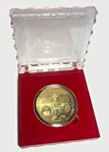 Clear Display Case, Gift Box, Donald Trump Gold Coin, Collectable Gold Plated Commemorative Coin Jewish Temple Jerusalem Israel