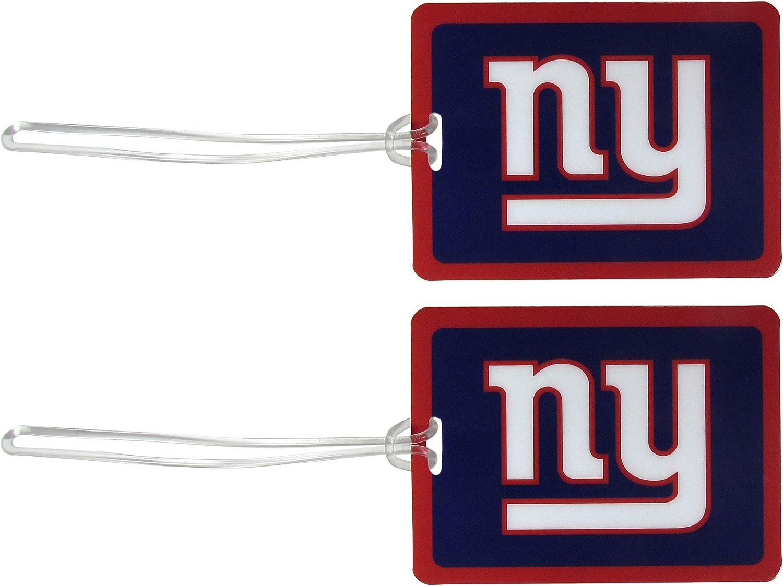 Cheap SALE Start NFL New York Giants Vinyl Tag Blue Luggage Max 48% OFF 2pk