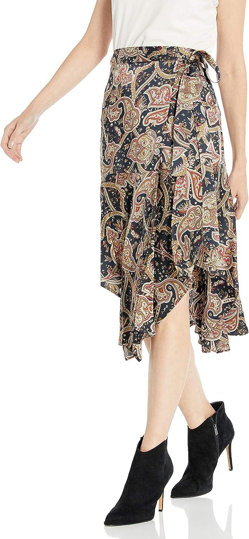 The Kooples Women's Women's Maxi Asymmetrical, Wrap Skirt in a Tangier Print