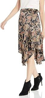 Women's Maxi Asymmetrical, Wrap Skirt in a Tangier Print