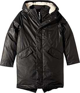 Baby Boy's Extra Soft Lined Zip and Button Up Himalaya Down Coat with Hood (Toddler/Little Kids/Big Kids)