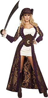 Roma Costume Women's 6 Piece Decadent Pirate Diva