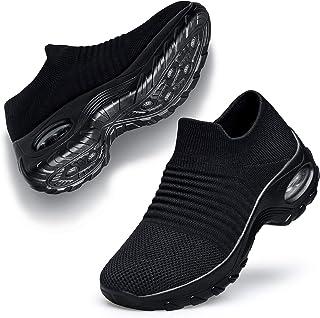 Belilent Womens Walking Shoes Slip on Sneaker Socks Platform Nurse Mesh Breathable Lightweight Comfortable Socks Shoes