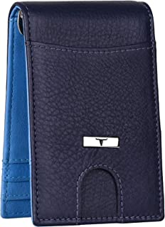 Urban Forest Eddy Blueberry/Blue RFID Blocking Leather Wallet for Men