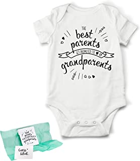 Surprise Pregnancy Announcement for Grandparents, Baby Coming Soon Bodysuit, Baby Announcement Gifts