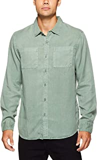 The Critical Slide Society Men's Olson Tencel LS Shirt, Avocado