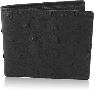 Genuine Ostrich Skin Leather Bifold Wallet Handmade