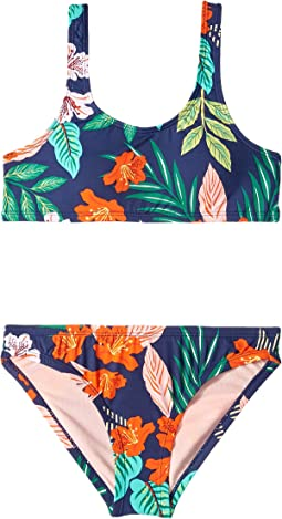 Hibiscus Jungle Tank Bralette & Hipster (Big Kids)
