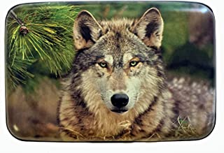 Fig Design Group North American Wolf RFID Secure Theft Protection Credit Card Armored Wallet New