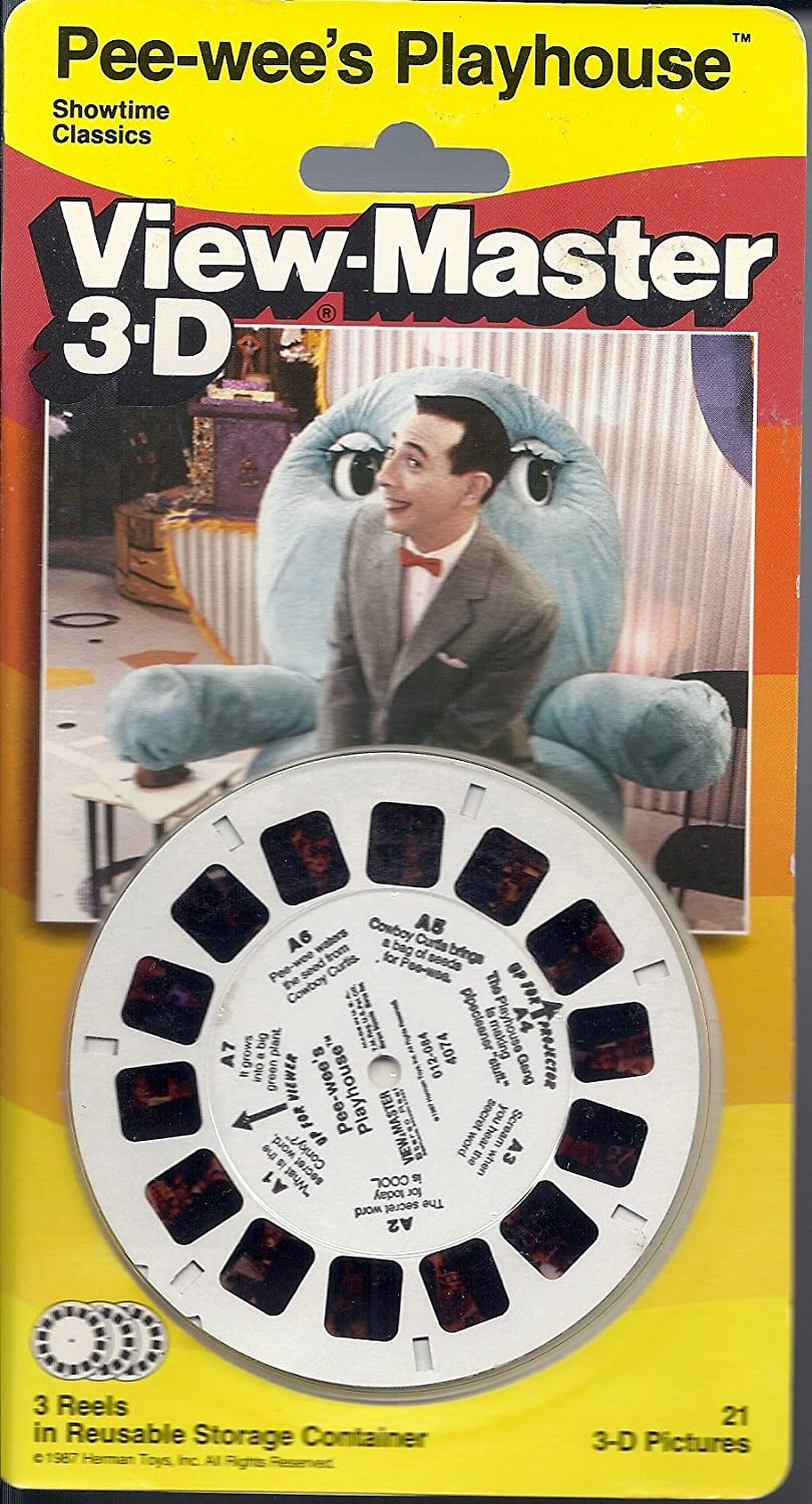Pee-Wee's Playhouse 3D View-Master store Set Price reduction Reel 3