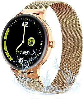 JessFash Reloj Inteligente Podómetro a Prueba de Agua Cardio Salud Ejercicio Reloj Rastreador de Actividad Relojes Ritmo cardíaco Monitor sueño Rastreador Ejercicios Bluetooth Smartwatch