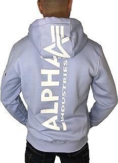 ALPHA INDUSTRIES Men's Back Hoody Neon Print Sweatshirt
