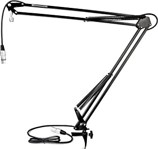 TIE Studio Flexibele Mic Stand Pro microfoonhouder microfoonarm (incl. 2,5 m XLR microfoonkabel, 5/8 inch schroefdraadaans...