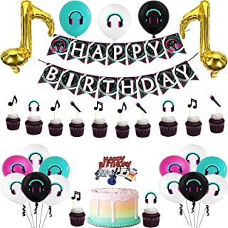 Short video Music Sign Birthday Party Supplies Decors 46pcs Musical Theme Party Decorations Hanging Swirl Decorations Birthday Party Decor