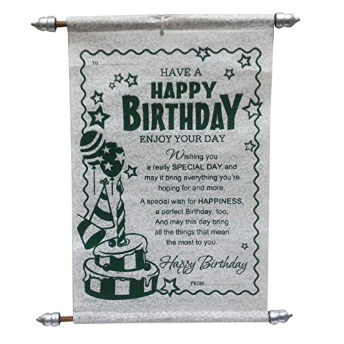 Saugat Traders Birthday Scroll Card